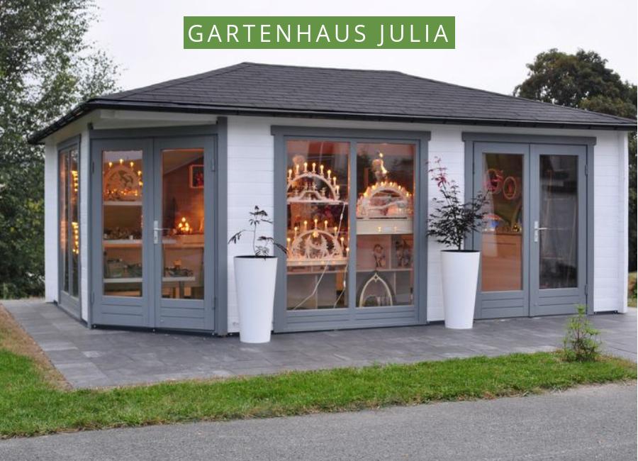 Gartenhaus Weihnachtlich schmücken So könnte das Julia