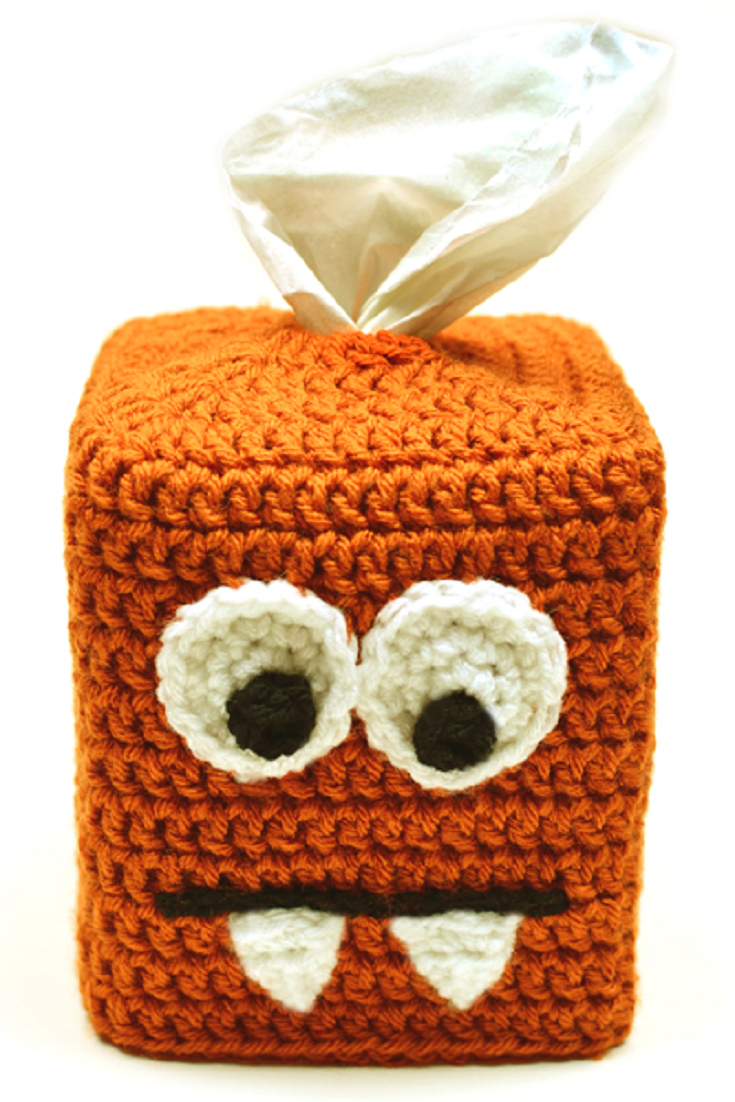 Crochet Pattern: Monster Tissue Box Cover | Pinterest | Cajas de ...