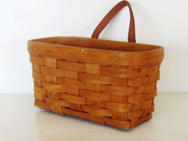 Vintage Longaberger Wall Basket, Cottage Chic | Cabin and Walls