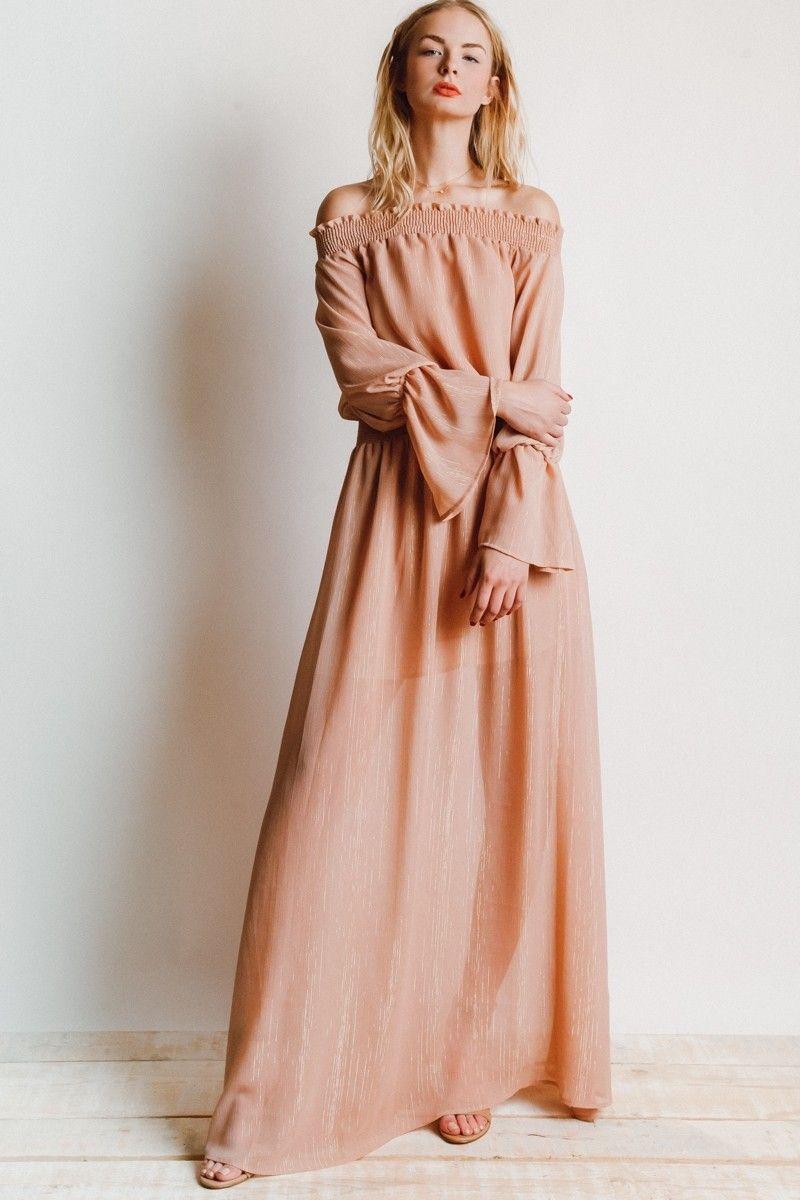 0207e966b2fe7 Show Me Your Mumu Wanda Maxi Dress in Sparkle and Shine Mauve