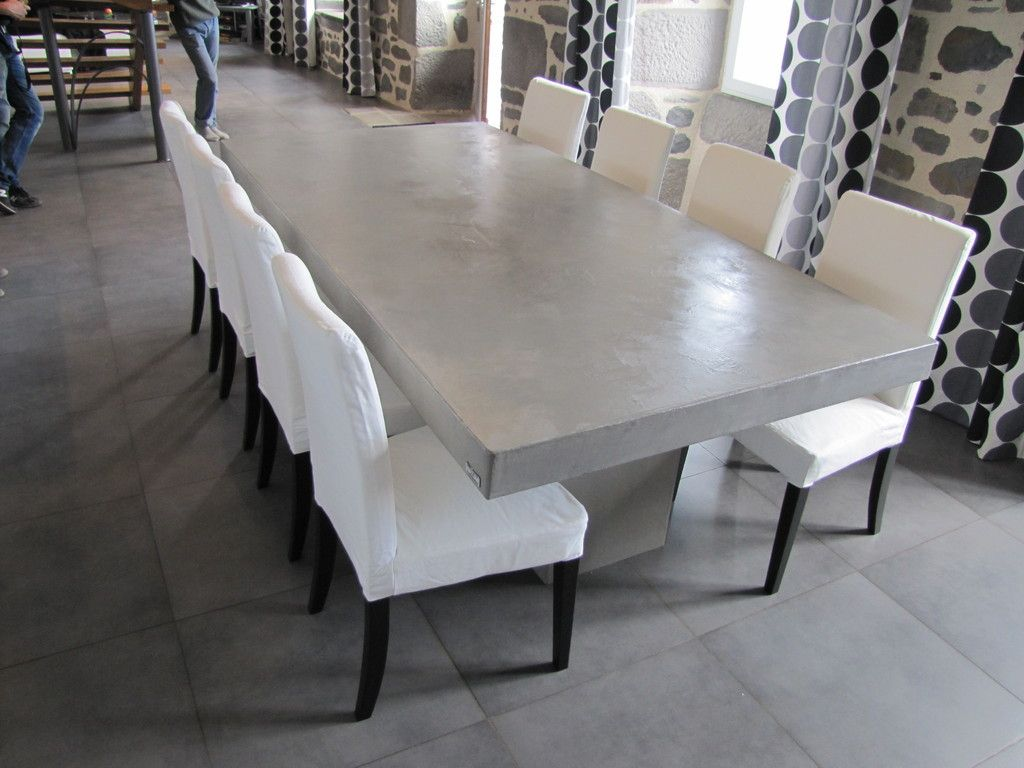 table salle manger b ton cir table pinterest