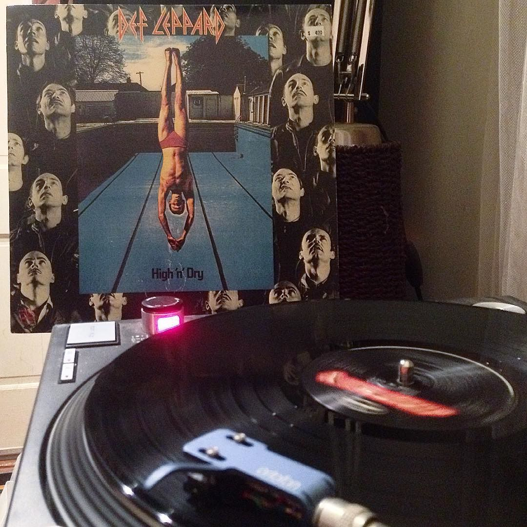 Tim Haire On Instagram Yep One Of Those Nights 1981 Defleppard Highanddry Vinyl Records Vinylrecords Lps Greatmusic No Vinyl Records Def Leppard Lps