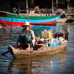 Take a photo tour to Kampong Pluk, on the tonle sap not far from Siemreap.  Escape the crowds of Angkor and step back in time.  Great for the photographer.