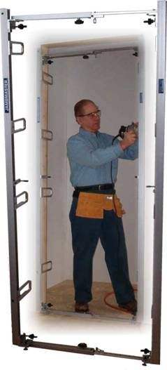 Fast Precise Door Frame Installation Without Wedging Or Shimming And Requiring Very Little Training This Is What The Jambmast Jig Door Installation Door Frame