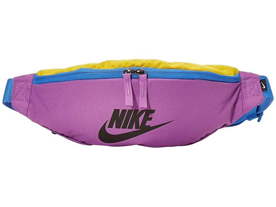 Hip Bag in Blue with Circles of Pink and Purple
