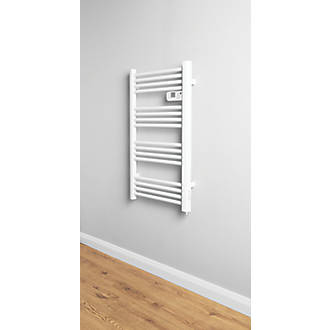 Electric Pre-Filled Towel Radiator 980 x 550mm White in ...