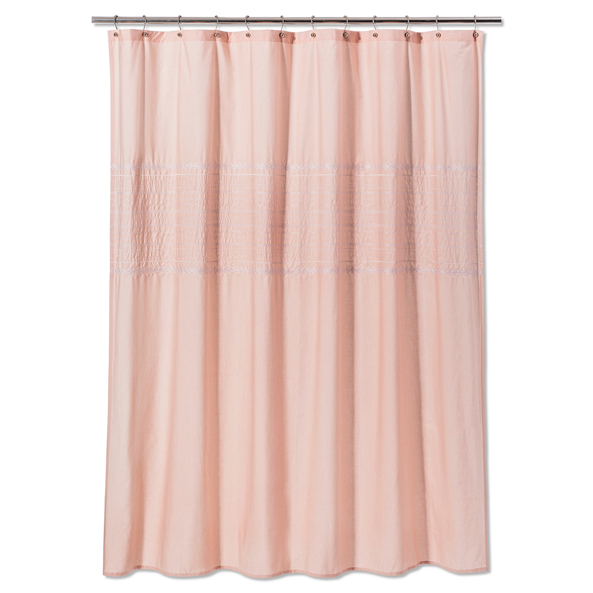 Solid Shower Curtain Prairie Peach Threshold Fabric Shower