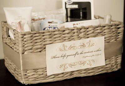 Canasta para el ba o gertrudis abdala accesorios de bodas y novias boda boda decoracion - Amenities en el bano ...