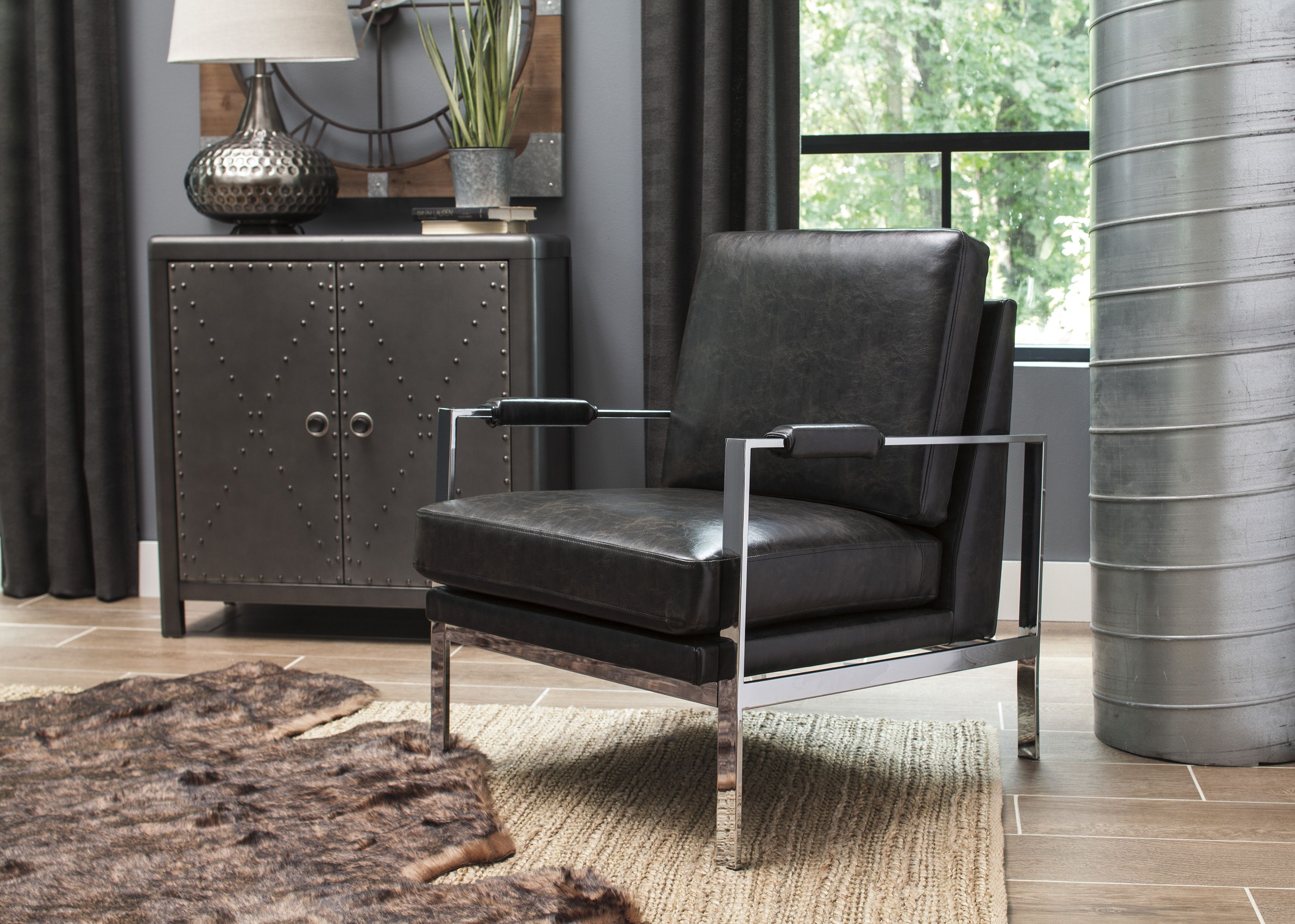 network accent chair contemporary style upholstery and chrome