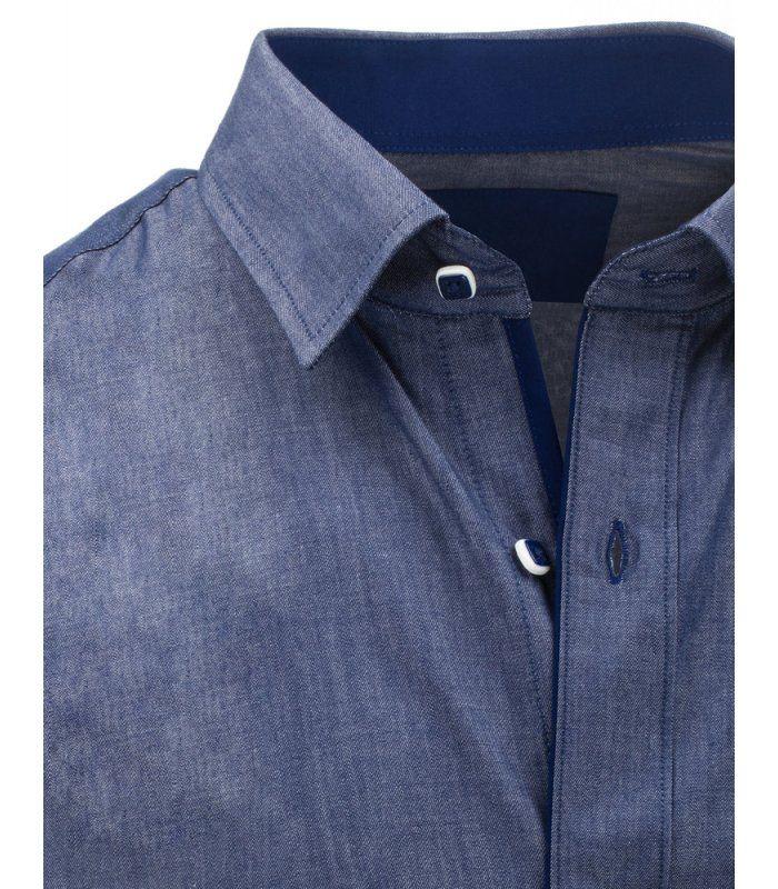c4d303666799 Pánska modrá elegantná košela s krátkym rukávom