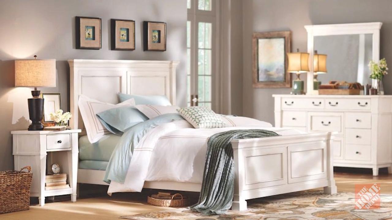 Bridgeport antique white queen bed frame1872500460 the
