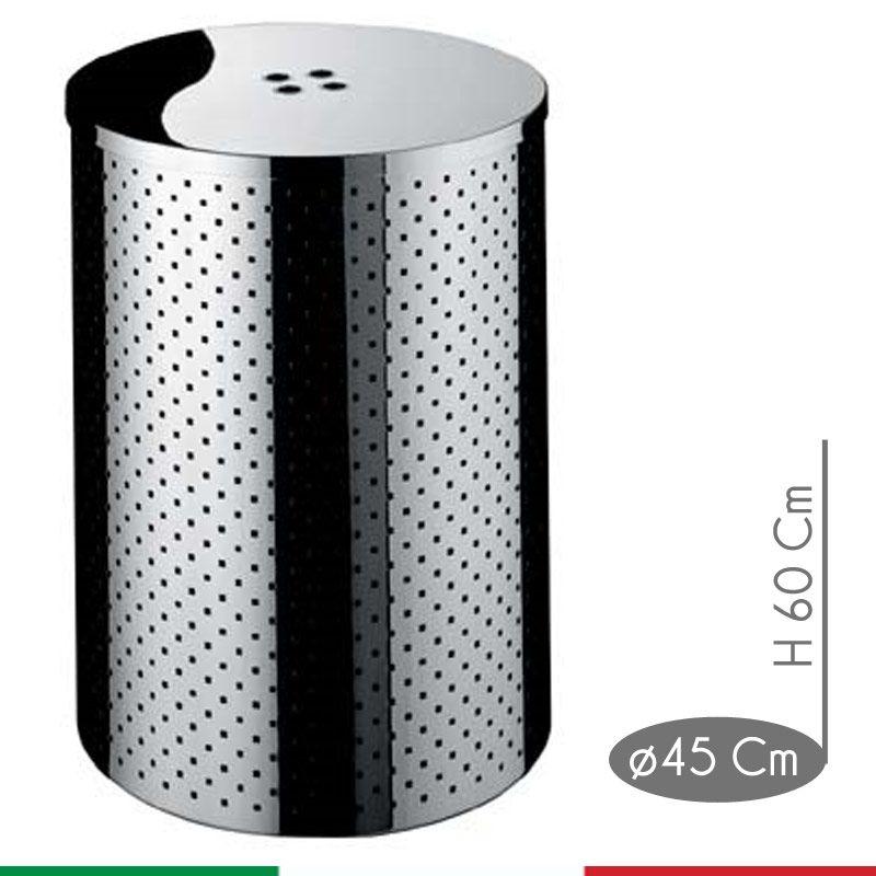 Portabiancheria Sporca Acciaio.Portabiancheria Taormina Midi Diametro 45xh60 Cm L 95 Con