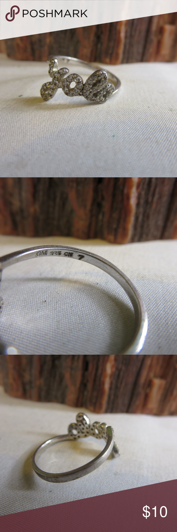 925 Cn Gm : Sterling, Silver, Crystal, Size:, Weighs, Grams., Hallmarks:, Condition:, Womens, Jewelry, Rings,, Rings