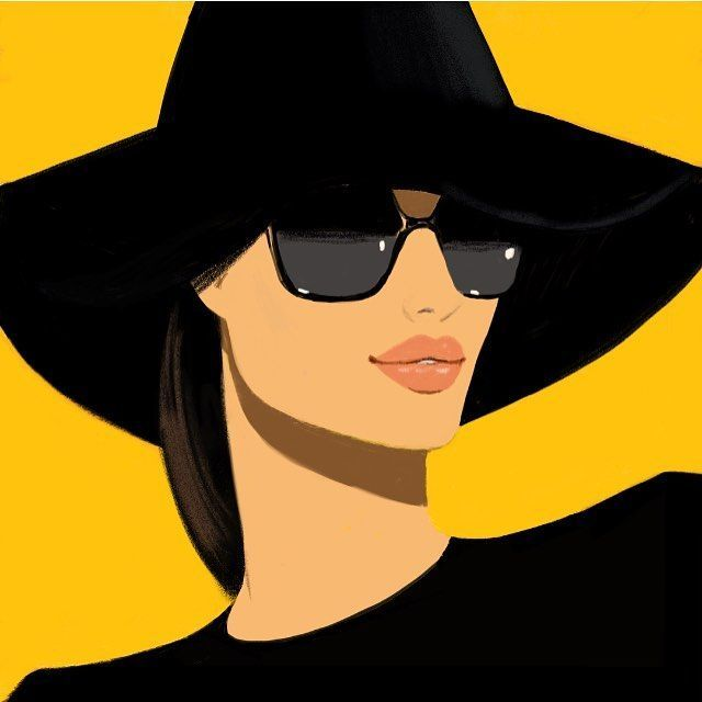 "Photo of JASON BROOKS on Instagram: ""Sun ☀️#wintersun #illustration #sunglasses #heat #art #fashionillustration #fashiondrawing #design #drawing #art #artwork #hats #lipstick…"""