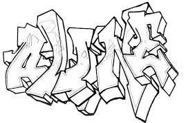 Résultat De Recherche Dimages Pour Coloriage Tag Graffiti A