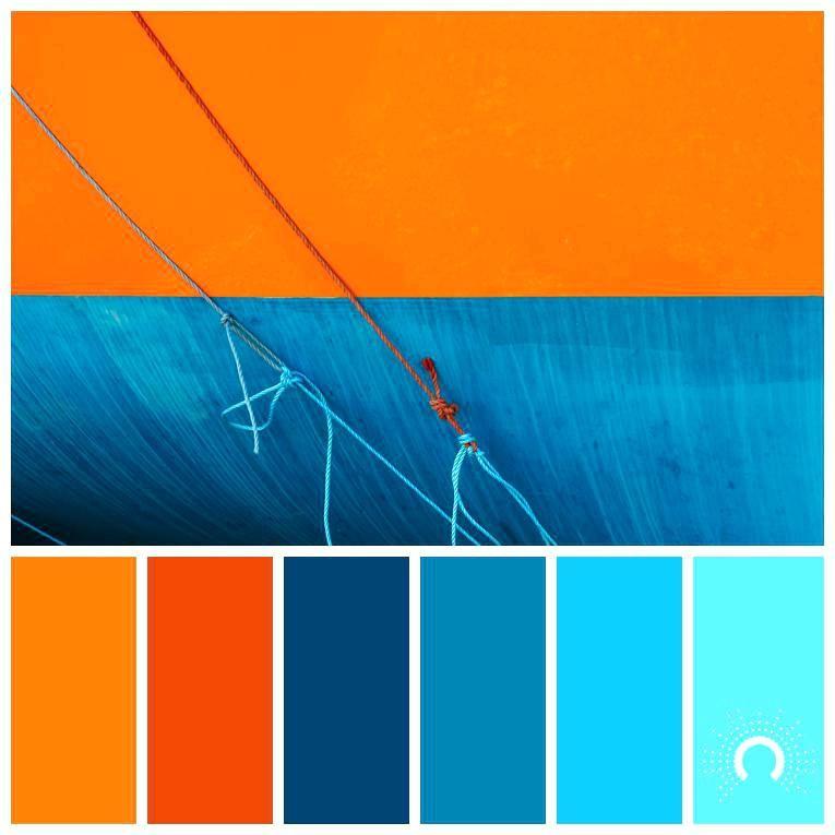 Image Result For Blue Orange Colour Combination