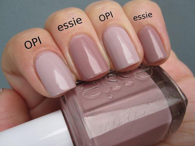Polish Chest: OPI - Steady As She Rose vs. essie - Lady Like