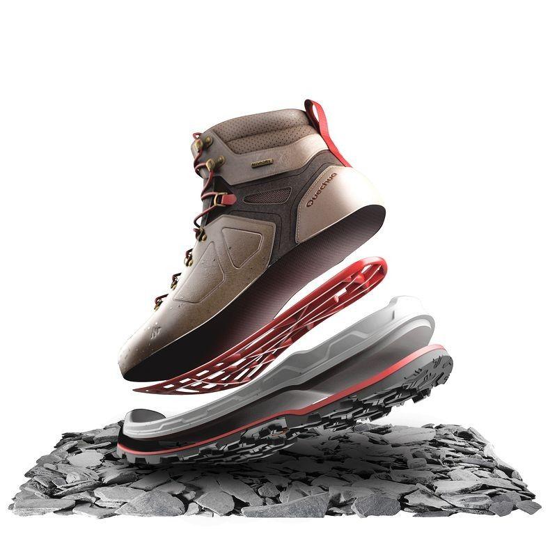 Incălţăminte Drumeţie Impermeabilă Forclaz 600 High Damă Hiking Shoes Hiking Women Shoes