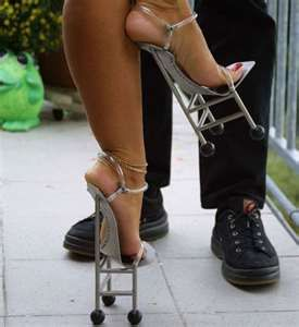 cd86ce42e988 Stilt Shoes Would a guy go out with a girl in these shoes