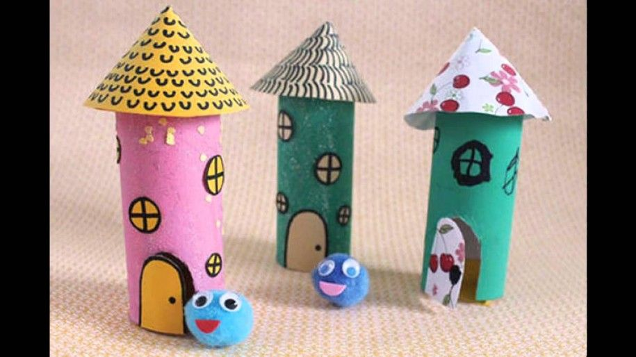 Exceptional Simple Paper Craft Ideas For Kids Part - 13: Best Ideas For Crafts Made With Toilet Paper Rolls : Easy Paper Crafts For  Kids