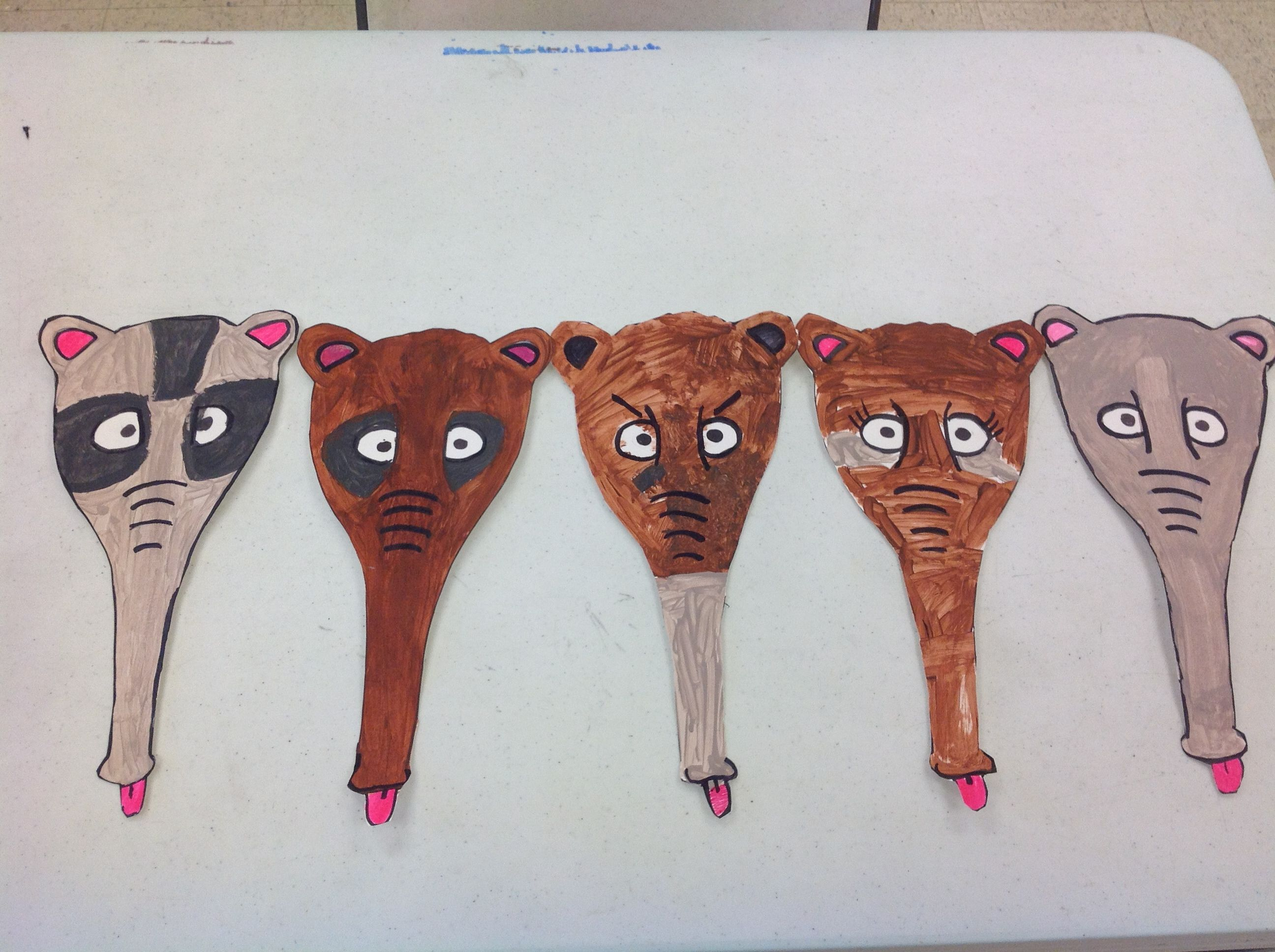 My New Template For An Anteater Mask The Kids Loved