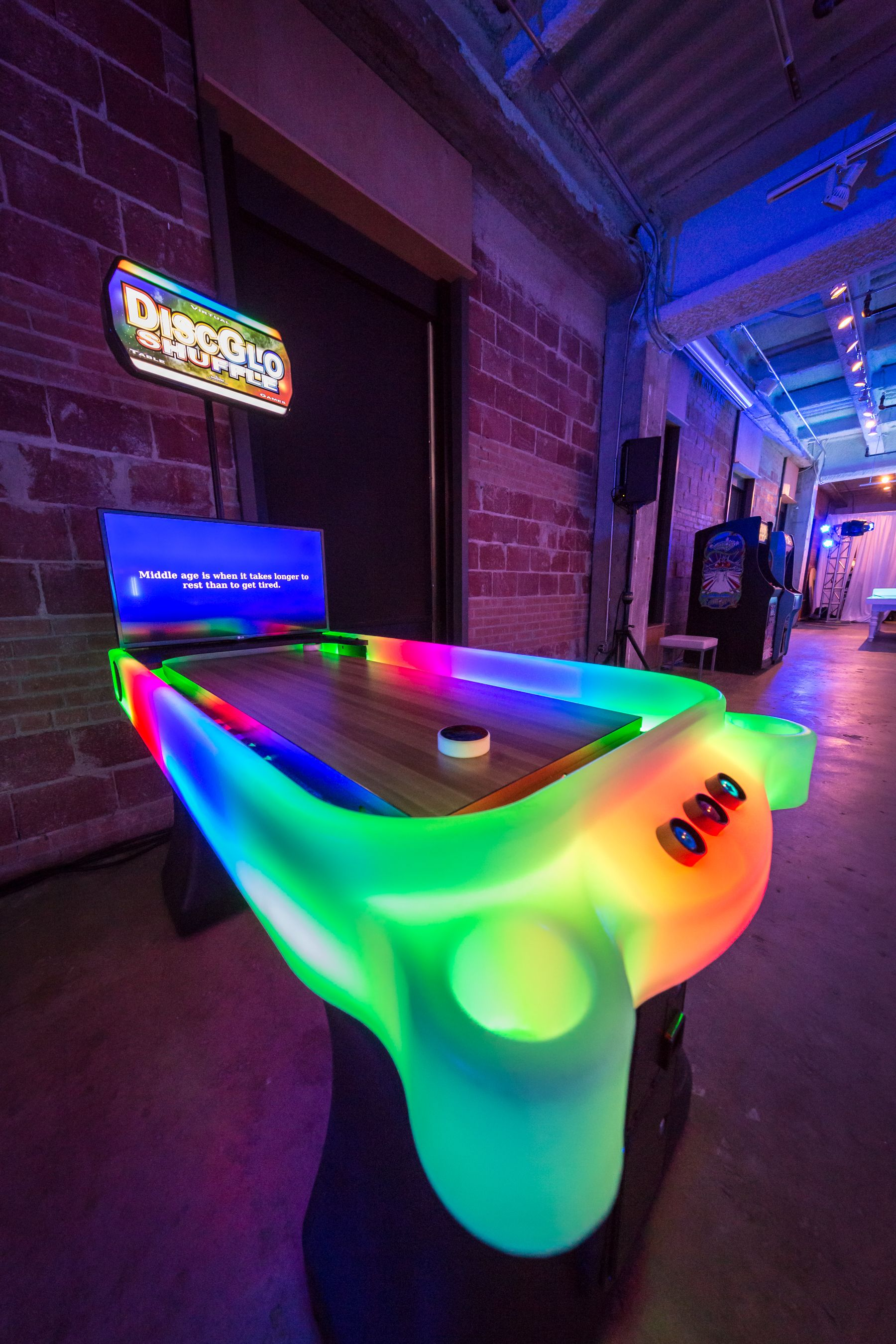 Gentil Pool Tables · Disc Glow Shuffleboard Is A Super Popular And Fun Game For  Your Event. Check Out