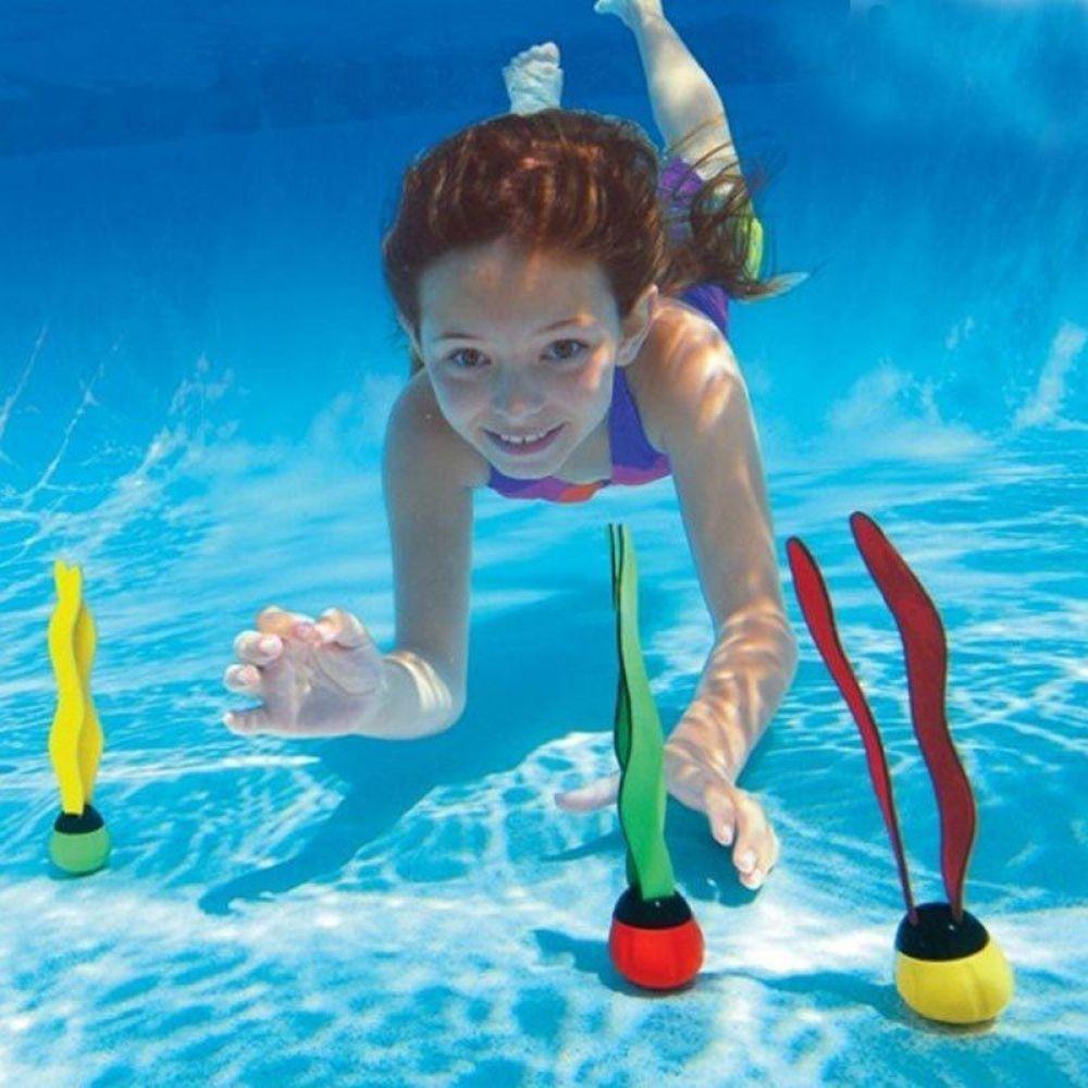 4Pcs Dive Rings Kids Toy Swimming Pool Beach Game Underwater Water Sport Ring