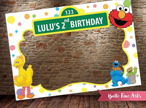 Sesame Street Frame Digital File Birthday Baby By
