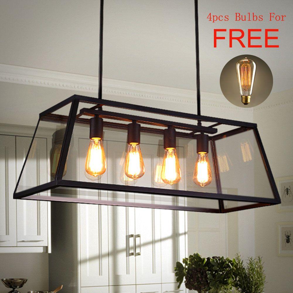 Kitchen Pendant Light Bedroom Lamp Black Chandelier Lighting Bar