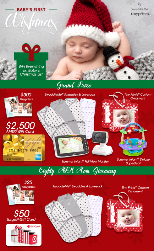 Baby's First Wishmas Sweepstakes & Blog Giveaway SwaddleMe & Tiny Prints  *I received product as a thank you for announcing this sweepstakes & blog giveaway. All opinions are my own. Baby's First Wishmas Sweepstakes Along with the holidays, come some fantastic (and fun!) giveaways and sweepstakes. Well, have I got an amazing sweepstakes and giveaway to share with you! Baby's first Christmas is a magical experience [...]  http://eightymphmom.com/2016/11/babys-first-wishmas-sweepstak..