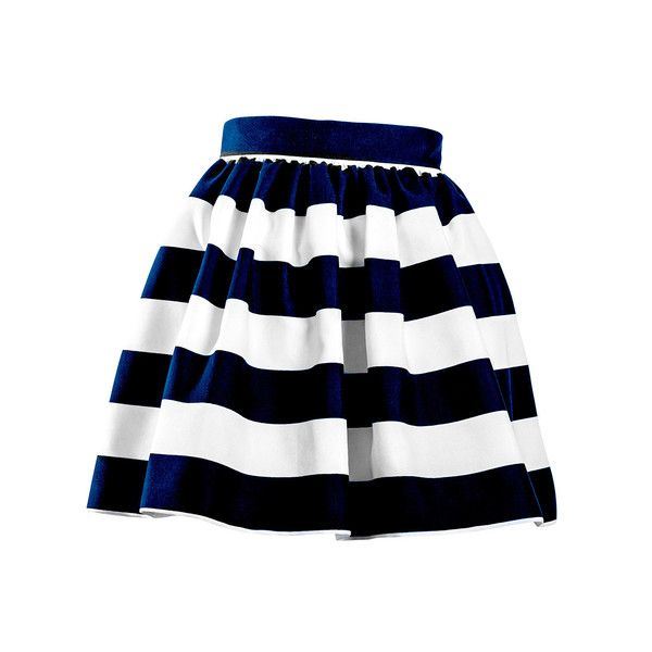navy and white stripe #PARTYSKIRT
