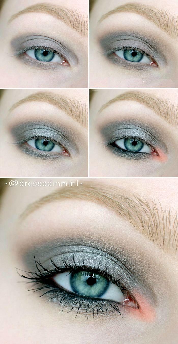 Makeup for black dress green eyes  Tons pastéis  makeup  Pinterest  Makeup Eye and Eyeshadow