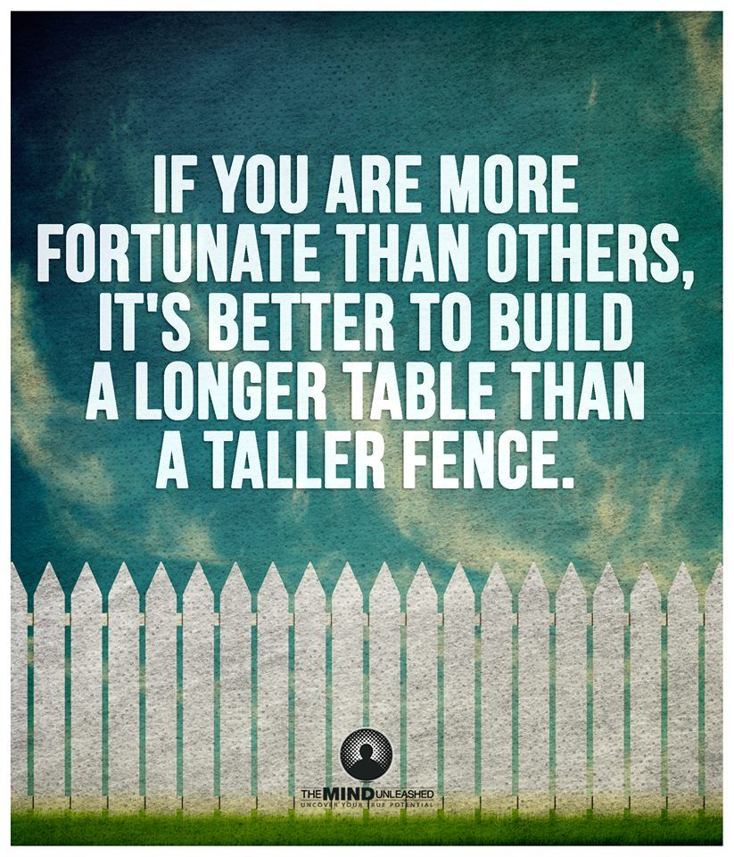 Fence Quotes If You Are More Fortunate Than Others It's Better To Build A