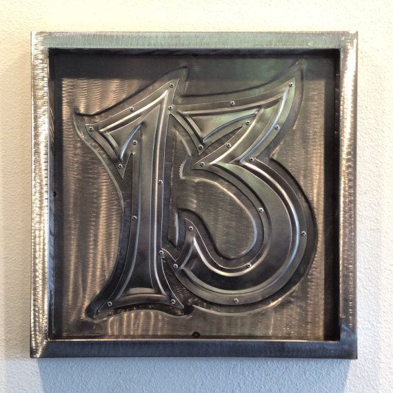 Lucky 13 Sheet Metal Art Bead Rolled Steel And Aluminum