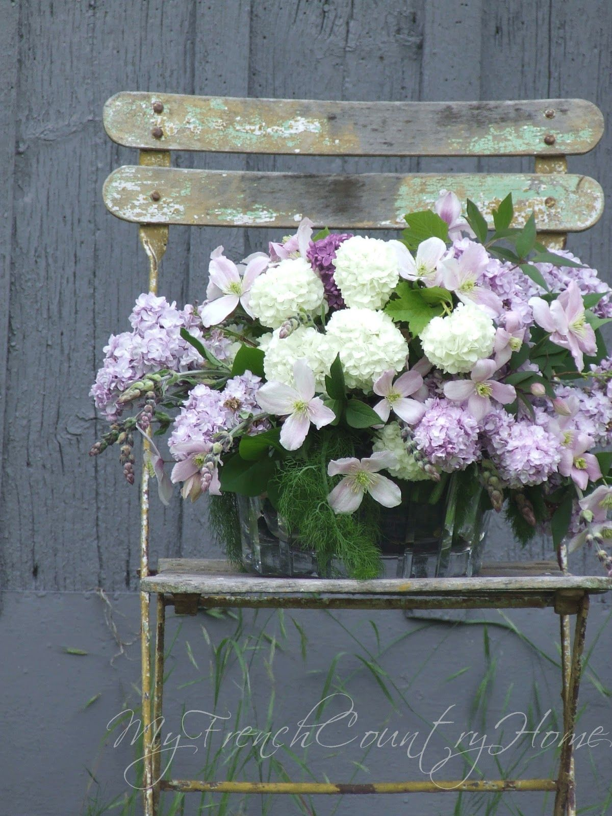 my french country home the clematis bouquet Flower