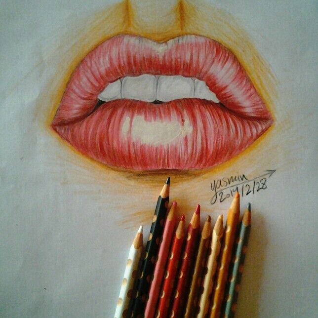 Lips art by yasoma