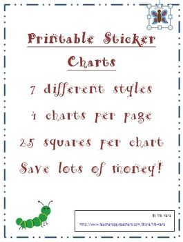 Printable Sticker Chart Collection  Sticker Chart School And Adhd