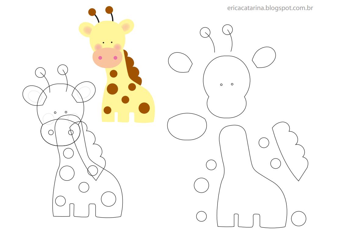 Felt Giraffe Pattern Amigas Do Feltro 5 Of 8
