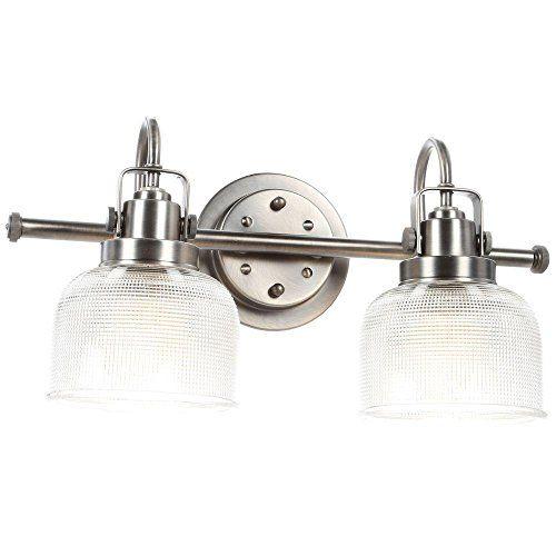 Photo of Progress Lighting Archie 2-light antique nickel basin lamp