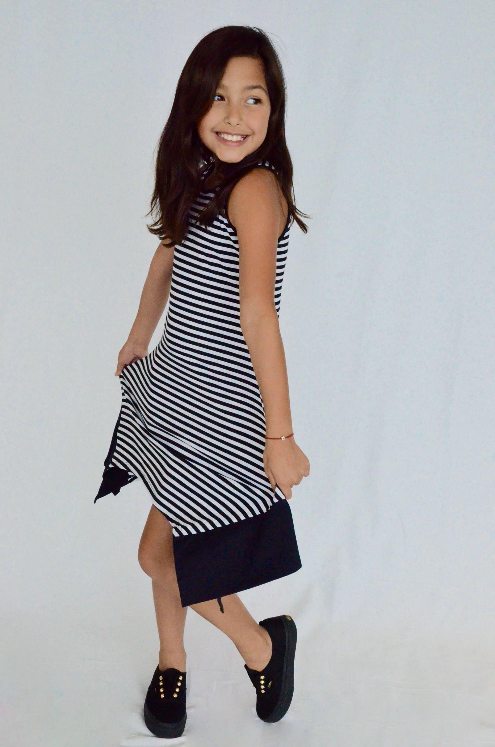 striped dress,kids dress,girls black and white dress,dress,party ...
