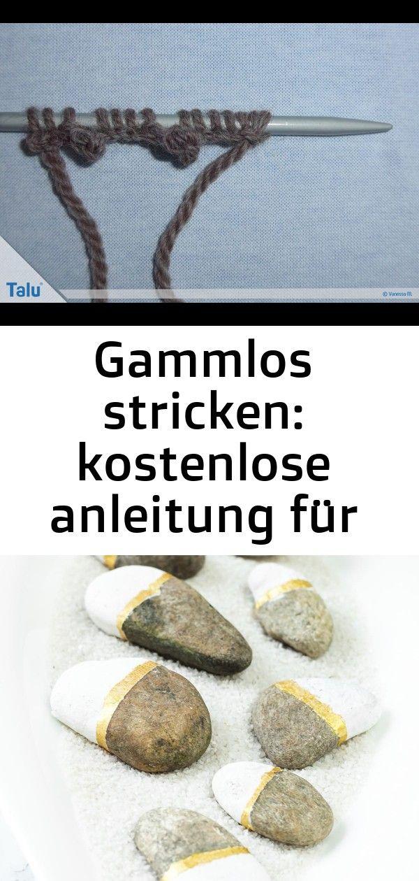 Gammlos stricken: kostenlose anleitung für bequeme hüttenschuhe 20 #steinebemalenanleitung