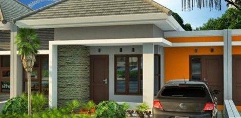Contoh gambar desain rumah type 45 t&ak depan & Contoh gambar desain rumah type 45 tampak depan | Ide buat Rumah ...
