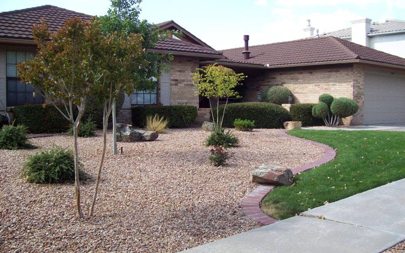 front yard xeriscape ideas   residential landscape ...