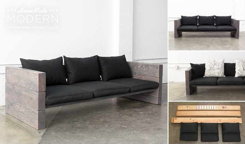 This Diy Sofa Can Be Made With Basic Power Tools In Less