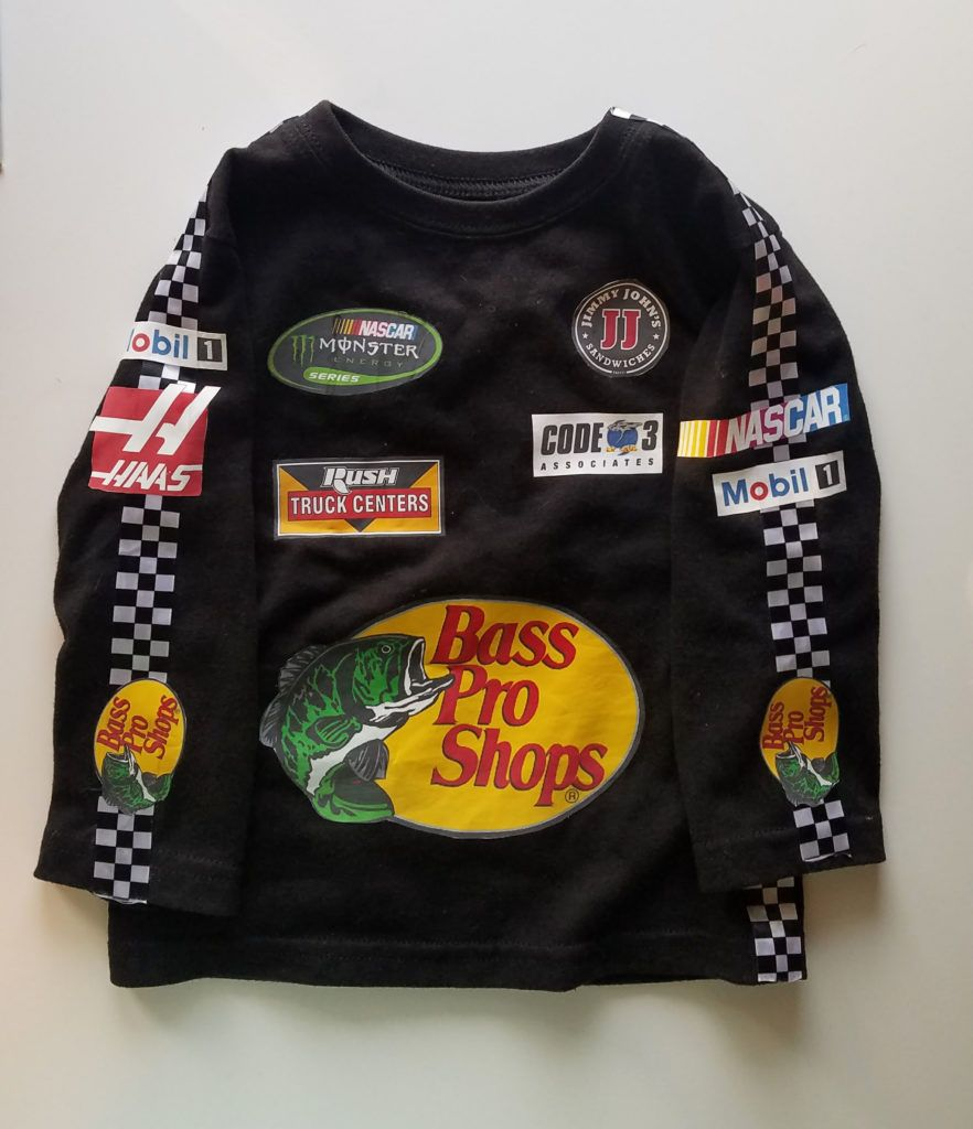 Diy Nascar Costume For A Toddler Meredith Rines Nascar Costume Cars Halloween Costume Toddler Halloween Costumes