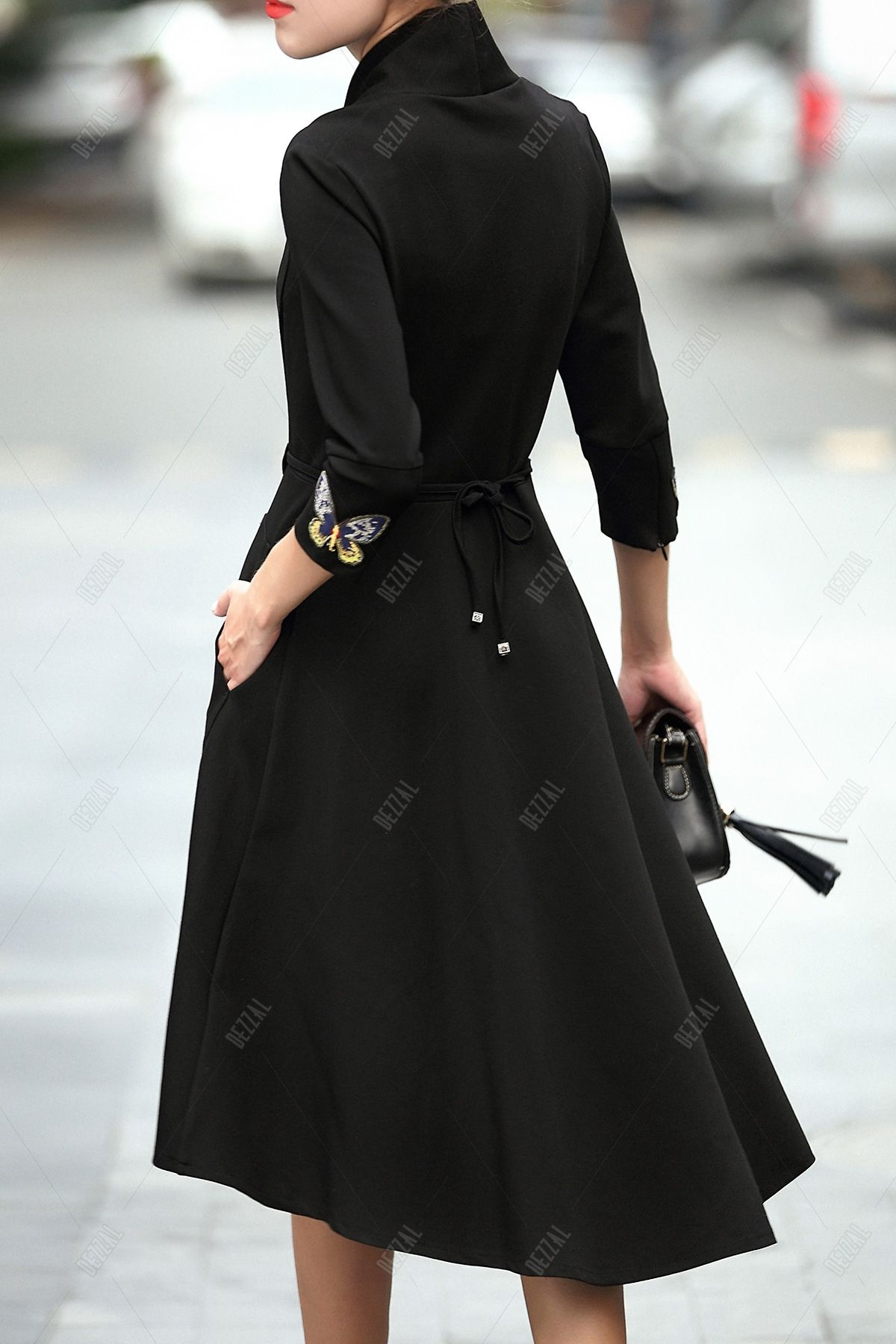 Crossover Collar Dovetail Dress   All Dressed Up and ...