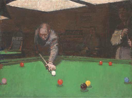 Ruskin Spear Snooker Painting