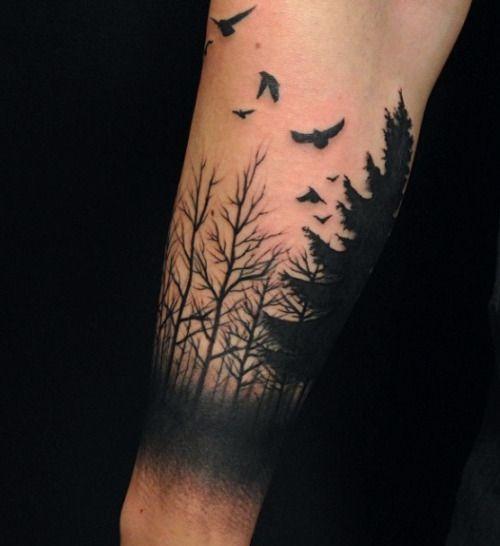forest tattoo cerca con google tattoo tatouage. Black Bedroom Furniture Sets. Home Design Ideas