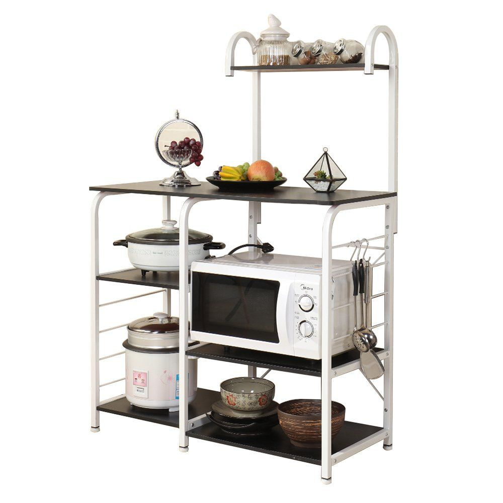 Sogespower Kitchen Baker S Rack 3 Tier 4 Tier Microwave Stand Storage Rack Black You Can Find Ou In 2020 Kitchen Storage Shelves Kitchen Storage Functional Kitchen