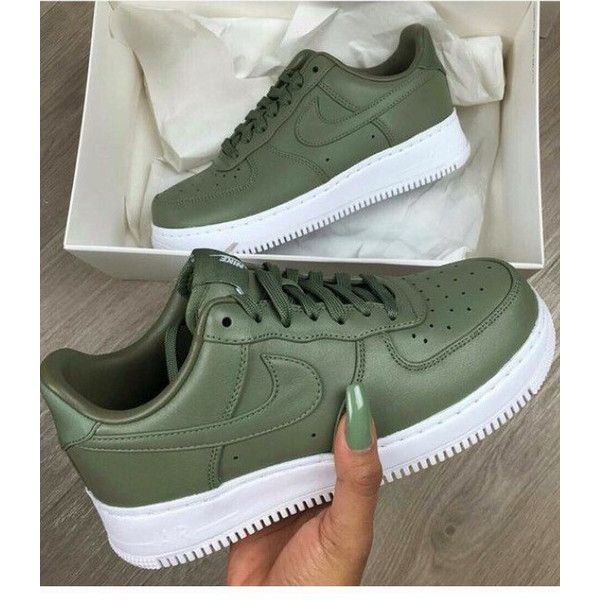 El sendero antena Platillo  Nike Air force1 Olive Custom. ($179) ❤ liked on Polyvore featuring shoes,  olive, sneakers & athletic shoes, women's shoes… | Nike, Nike free shoes,  Nike shoes women